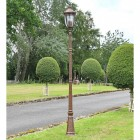 """""""The Ruxton"""" Manor Style Garden Lamp Post in Situ"""