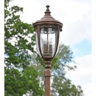 View of the The Bronze Manor  Design Lantern on the Lamp Post