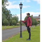 """""""The Wellwood"""" Black Manor Style Lamp Post to Scale"""