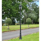 """""""The Wellwood"""" Lamp Post Finished in a  Black Finish"""