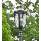 Traditional Lantern of the Black Manor Style Lamp Post