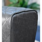 Close-up of the Black Buffalo Leather on the Stool