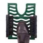 Green  Three in One Black Boot Jack Boot Brush and Scraper