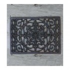 Rectangular Ornate Cast Iron Kitchen Trivet