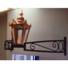 Copper Hexagonal Bow Bracket Light