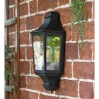 Side View of the Traditional Black Flush Half Wall Lantern