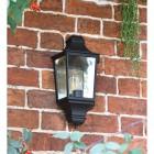 Traditional Flush Half Wall Lantern in Black