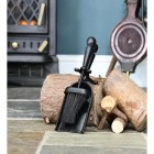Traditional Black Iron Pan & Brush Set in Situ by the Fire Place