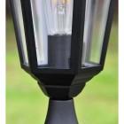 Close-up of the Glass Inside the Pillar Light