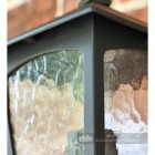 Traditional Bottom Fix Black Wall Lantern Close Up