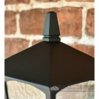 Traditional Bottom Fix Black Wall Lantern Finial