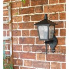 Traditional Bottom Fix Black Wall Mounted Lantern