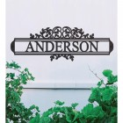 Traditional Foliage House Name Sign in Situ on a White Wall
