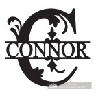 Letter B Monogram Name Sign Personalised with the Name Connor