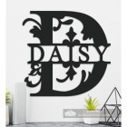 Letter D Personalised Monogram Name Sign in Situ in the Home