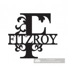 Letter F Monogram Name Sign Personalised with the Name Fitzroy
