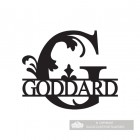 Letter G Monogram Name Sign Personalised with the Name Goddard