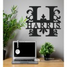 Letter H Monogram Name Sign in Situ in the Office