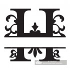 Letter H Personalised Monogram Name Sign