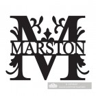 Letter M Monogram Name Sign Personalised with the Name Marston