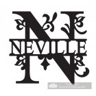 Letter N Monogram Name Sign Personalised with the Name Neville