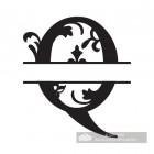 Letter Q Personalised Monogram Name Sign