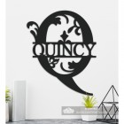 Letter Q Personalised Monogram Name Sign in Situ in the Home