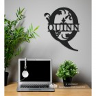 Letter Q Monogram Name Sign in Situ in the Office