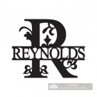 Letter R Monogram Name Sign Personalised with the Name Reynolds