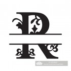 Letter R Personalised Monogram Name Sign