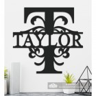 Letter T Personalised Monogram Name Sign in Situ in the Home