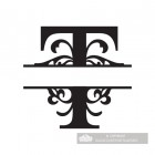 Letter T Personalised Monogram Name Sign