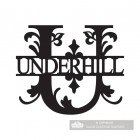 Letter U Monogram Name Sign Personalised with the Name Underhill