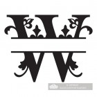 Letter W Personalised Monogram Name Sign