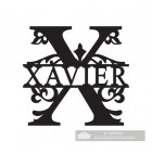 Letter X Monogram Name Sign Personalised with the Name Xavier