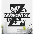 Letter Z Personalised Monogram Name Sign in Situ in the Home