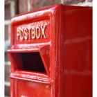 Close-up of the Red Finish on the Post Box