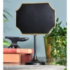 Antique Bronze Vintage Chalk Board Standing by a Blue Wall