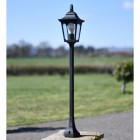 Tall Traditional Pillar Light in Situ on the Driveway
