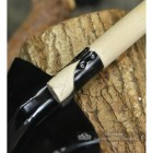 Traditional Wooden Handle Shovel Close Up