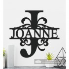 Letter J Personalised Monogram Name Sign in Situ in the Home