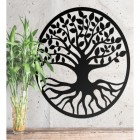 "Black Round ""Tree of Life"" Wall Art in Situ Inside"