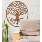 "Rustic Round ""Tree of Life"" Wall Art in Situ in the Sitting Room"