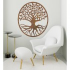 "Rustic Round ""Tree of Life"" Wall Art in Situ in the Living Room"