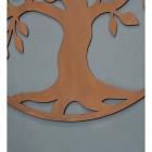 "Close-up of the Rusict Finish""Tree of Life"" Circular Wall Art"