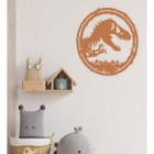 T-Rex Wall Art in Situ in the Living Room