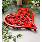Heart Design Cast Iron Trivet