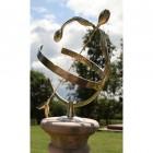 Amulet Solid Brass Tulip Armillary