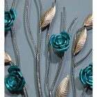 Close-up of the Turquoise Rose and Silver Leaves