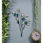 Turquoise Rose Branch Wall Art in Situ in the Living Area